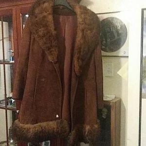 Vintage Suade and faux fur jacket.